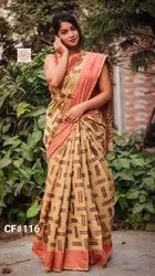 Present Soft Cotton Saree With Blouse Piece