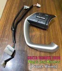 Silver & black ABS Plastic Creta2020 Steering Remote Control For Creta20