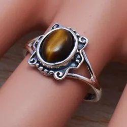 925 Sterling Silver Jewelry Tiger Eye Gemstone Handmade Ring Wr-5004