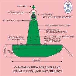 CATAMARAN NAVIGATION BUOY - (CNB-2800)