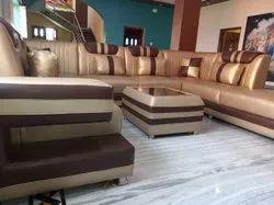 Wooden,Velvet Modern U Shape Sofa Set