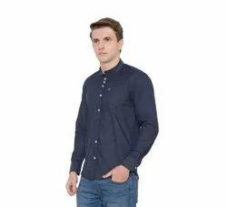 Cotton Collar Neck Men Plain Shirt, Size: XS-XXL