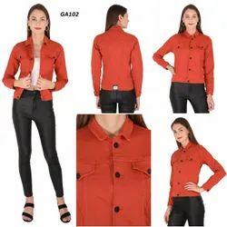 Full Sleeve Casual Jackets Solid Women Plain Jacket, Size L, XL, 10