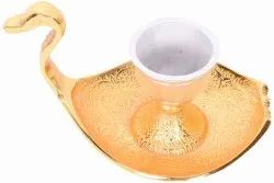 Anand Crafts Silver And Gold Plated Duck Shape Candle Stand