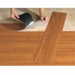 Brown Vinyl Wooden Flooring, Thickness: 2 Mm