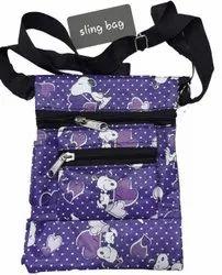 Shoulder Bag Blue Ladies Sling Bags, For Casual Wear