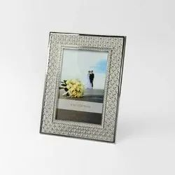 Silver Plated Crystal Photo Frame
