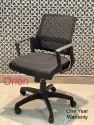 Fabric Orion Mid Back Revolving Chair, Black
