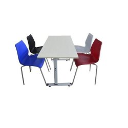 Used Cafeteria Table Chair Set