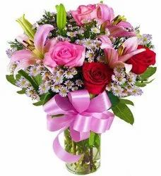 Rose Pink Flower Bouquet