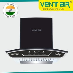 Smiley 60 BK Ventair Kitchen Chimney