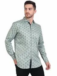 AADHAR Printed Shirt Men Casual Wear, Size: M TO XXL