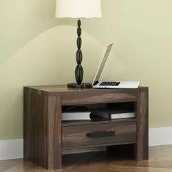 Furniture BoutiQ Lowa Rustic Solid Wood One Drawer Nightstand