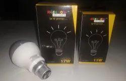 Aluminum Round Rainbow Led Lights - Bulb 11W, Base Type: B22, Model Name/Number: RFLD11