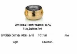 Brass And Stainless Steel Sovereign Chutney Bowl