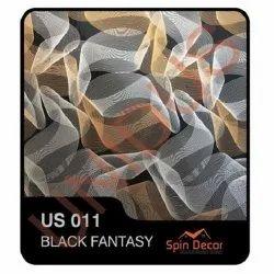 PVC Plastic Ceiling Tiles Black Fantasy US011
