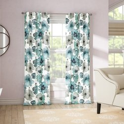 Flower peinted decorative curtain