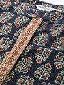 Jaipur Kurti Women Navy Blue & Maroon Ethnic Motif Flared Cotton Kurta With Pants