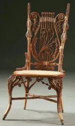 Wooden Designer Tight Back Chair, Finish: Polished