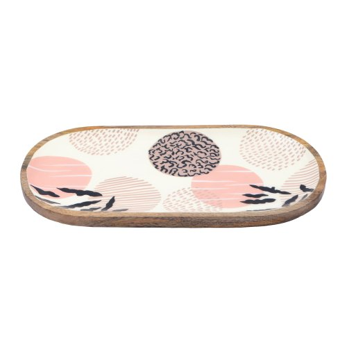 Mango Wood Printed Platters