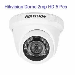 2mp Hikvision Cctv Dome Camera, For Outdoor Use, Camera Range: 15 m