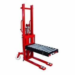 Stacker With Roller Platform