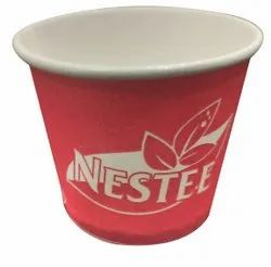 Red 55 ML Disposable Printed Glass, For Parties