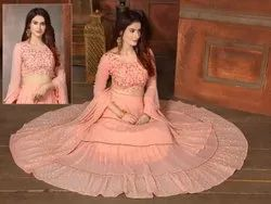 10 Am Gorgeous Peach Skirt Set