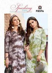 Karachi Style Printed Kurti With Sharara