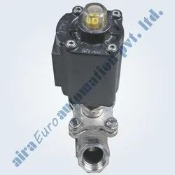 2/2 Way Aluminium Actuator Angle Type On/Off Control Valve BOLTED DESIGN
