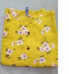 Printed Fancy Umbrella Cotton Kurti
