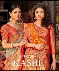 Lifestyle Saree Kashi Lichi Rich Pallu Designer Saree Catalog