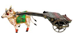 Antique Bullock Cart Decorative Showpiece