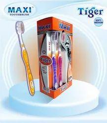 Maxi Tiger Plastic Toothbrush