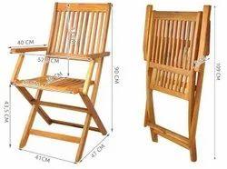 Home Brown Wooden Garden Chair