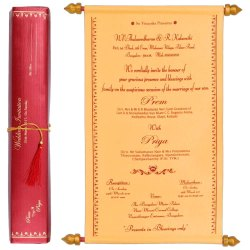 Invitation Card - KNK1113 Scroll Type Wedding Card