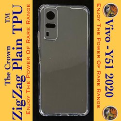 Silicon Vivo Y51 2020 Transparent Mobile Back Cover