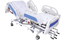 手动ICU床机械,轻度钢,尺寸/尺寸:2090 L x 990 w x 558 h