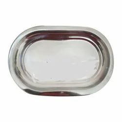 Silver Stainless Steel Capsule Shaped Tray, For Hotel, Size: 4