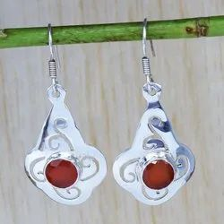 Carnelian Gemstone Jewelry 925 Sterling Silver Earring