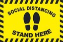 Social Distancing Sticker With Anti Skid Lamination
