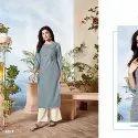 Cotton Slub With Hand Embroidery Kurti -6 Pcs Set