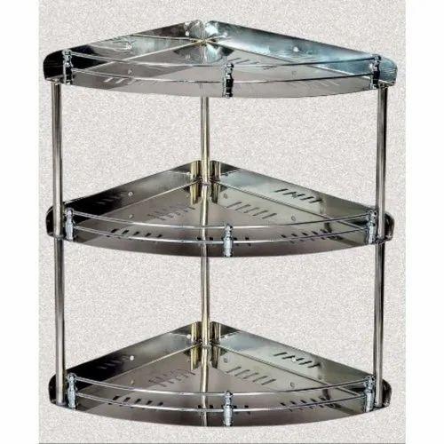 Ss Kitchen Corner Shelf At Rs 300 Piece Stainless Steel Corner Shelf एसएस क र नर श ल फ ज गर ध इस प त क क र नर अलम र D X Metal Ahmedabad Id 22968173591