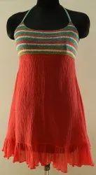 Chiffon Printed Ladies Western Wear One Piece Dress, Size: S-XXL