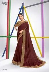 Maroon Color Silk Saree