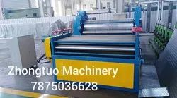 Embossing machine for decorative metal sheet