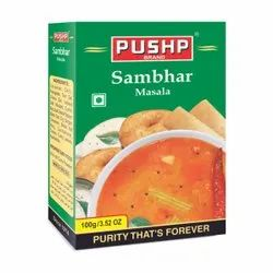 Pushp Sambhar Masala, Packaging Size: 100gm, Packaging Type: Box
