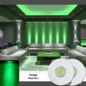 2 Watt LED Green Light Ceiling Round Spot Light lamp Bulb Recessed Downlight With Jbox