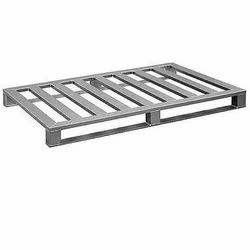 Silver Stainless Steel Pallet, Capacity: 500 Kg To 1000 Kg