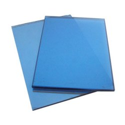 Plain Blue Reflective Glass